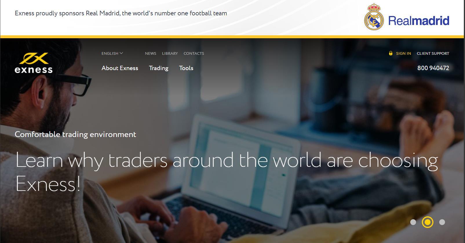 официальный сайт брокера Exness - обзор