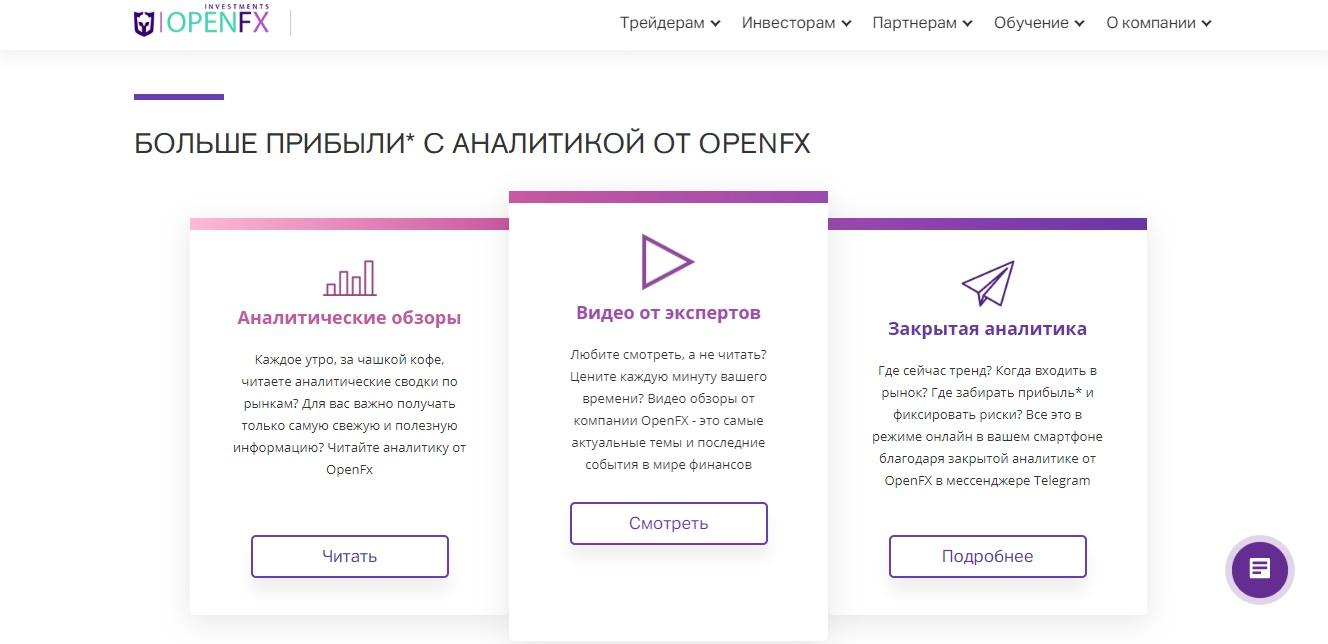 аналитика брокера openfx
