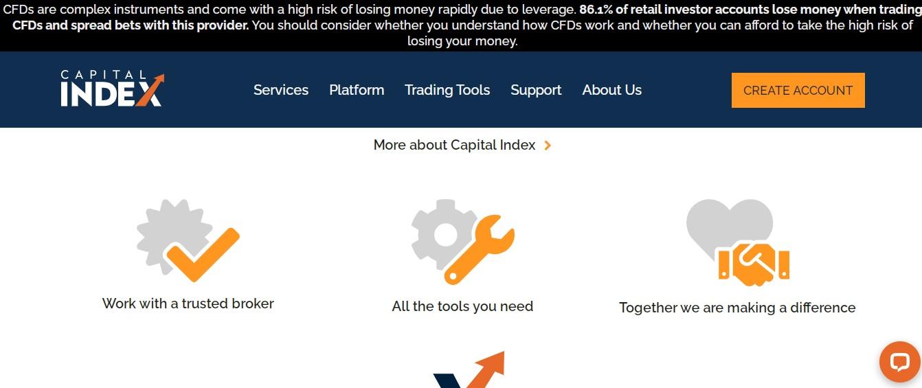сайт брокера capital index