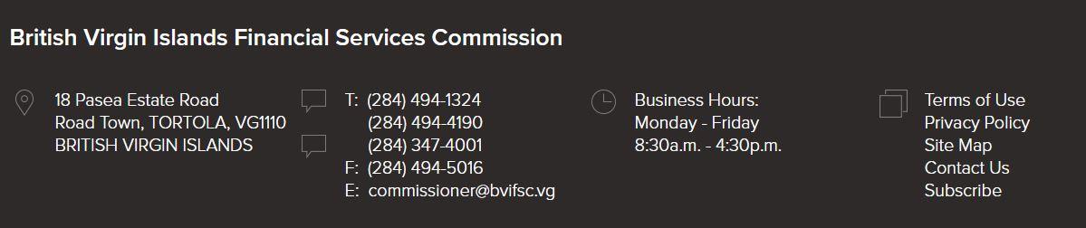 официальная информация bvifsc