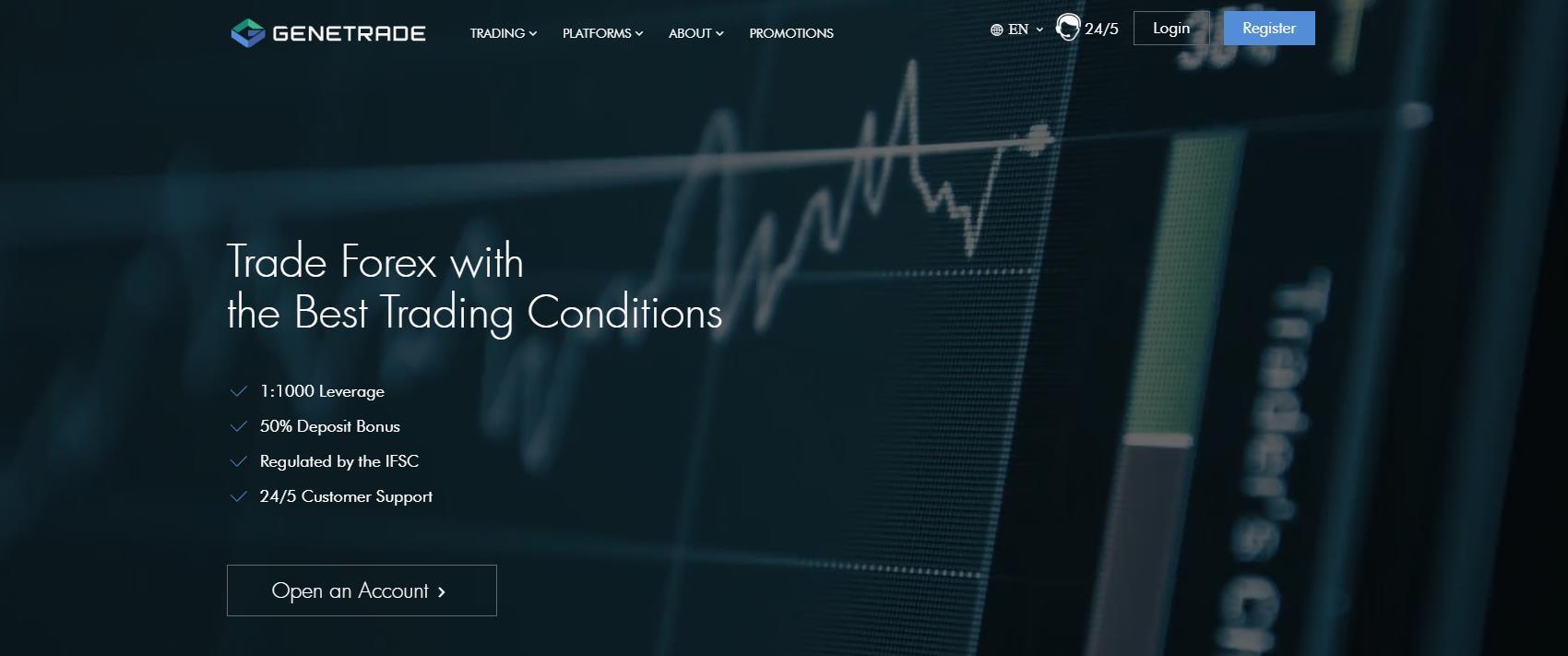 обзор официального сайта genetrade