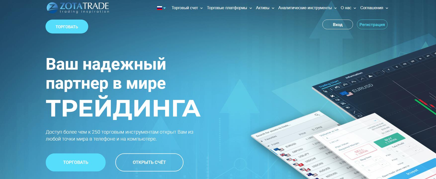 обзор компании zotatrade