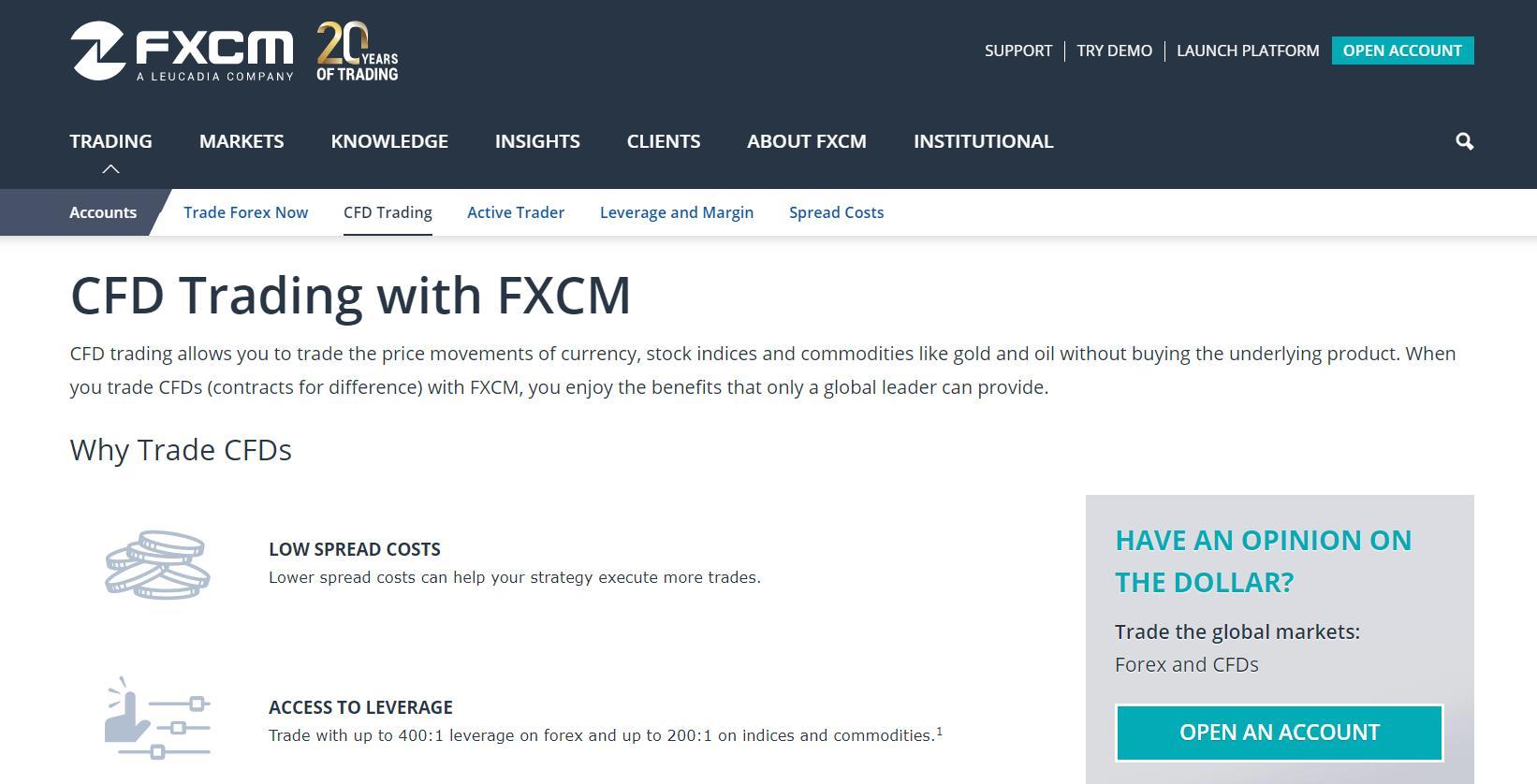 fxcm инструменты